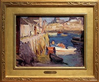 evening light, rockport harbor [sold] by emile albert gruppe